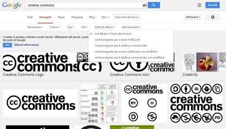 Recentemente Google ha messo a disposizione un filtro per la ricerca delle immagini senza copyright per poter essere utilizzate per i nostri scopi.