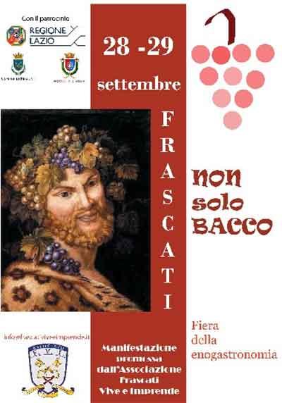 �Non Solo Bacco�...a Frascati una fiera enogastronomica di qualit�.