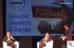 Antonio Di Pietro al convegno Roma Capitale?