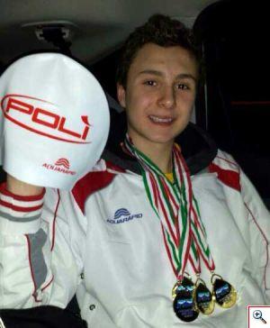 Johannes Calloni giovane promessa del nuoto
