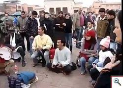 Manifestanti protestano in Marocco
