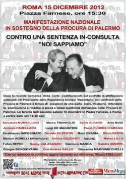 Manifestazione Nazionale di sostegno alla Procura di Palermo