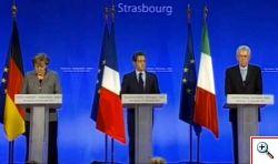 Vertice Monti, Merkel e Sarkozy il futuro dell'europa passa dall'Italia.