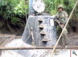 Sottomarino in Colombia invisibile per trasporto droga